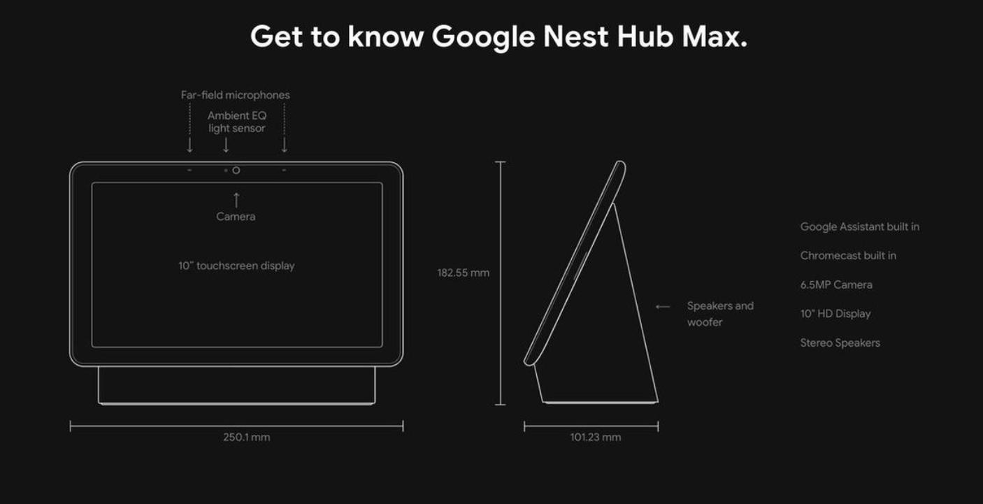 google nest hub specificaties